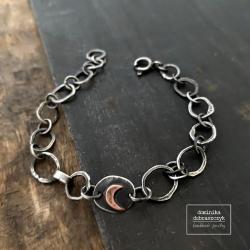 srebro,księżyc,łańcuch - Bransoletki - Biżuteria