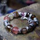 Bransoletki surowa biżuteria,bransoleta z kamieni