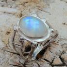 Pierścionki kamień księżycowy,srebrny,szary,srebrny,złoty,