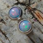 Kolczyki opale,srebro,srebrne,piękne,deliaktne,szlachetne