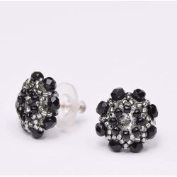 Kolczyki Czarne Kwiatuszki sztyfty - Kolczyki - Biżuteria
