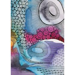 akwarela,tusz,rysunek,abstrakcja,malarstwo,sztuka - Ilustracje, rysunki, fotografia - Wyposażenie wnętrz