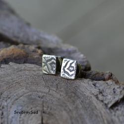 wkrętki srebrne,kolczyki srebrne,małe wkrętki - Kolczyki - Biżuteria