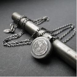 srebro,globus,surowy,unisex,oksydowany - Naszyjniki - Biżuteria