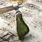 Wisiory mołdawit,srebrny,blask,butelkowa zieleń,butelkowy,