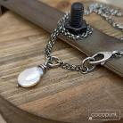 Naszyjniki perła keishi,z perłą,oksydowane srebro,codzienny