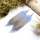 Kolczyki niebieskie długie kolczyki,pastelowe kolczyki