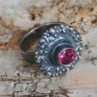 Pierścionki topaz,różowy,srebrny,delikatny,oksyda,retro,