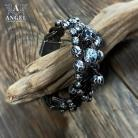 Bransoletki bransoleta skórzana ze sebra,surowa biżuteria