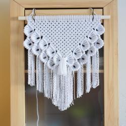 makrama,ścienna,bawełniana,biała,sznurek - Inne - Wyposażenie wnętrz