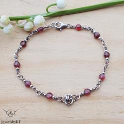 srebro,nowoczesna biżuteria,chainmaille,JewelsbyKT - Bransoletki - Biżuteria