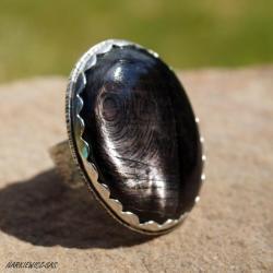 regulowany pierścionek z hipersteinem,romantyczny - Pierścionki - Biżuteria