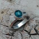 Pierścionki APATYT,srebrny,blask,srebro,błękit,mineralny
