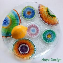 szkło,fusing,patera - Ceramika i szkło - Wyposażenie wnętrz