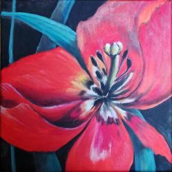 obraz,na ścianę,wyposażenie,dekoracja,kwiaty,akryl - Obrazy - Wyposażenie wnętrz