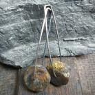 Kolczyki kolczyki wiszące,kolczyki z bursztynem,prezent
