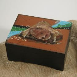 miś,niedźwiedź,malowany - Pudełka - Wyposażenie wnętrz