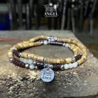 Dla mężczyzn surowa biżuteria męska,bransoleta z koralików