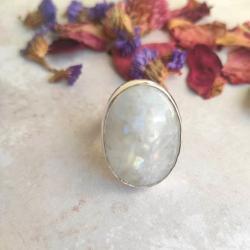 kamień księżycowy,moonstone,pierścionek - Pierścionki - Biżuteria