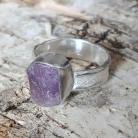 Pierścionki skapolit,srebrny,fiolet,srebro,delikatny,blask,