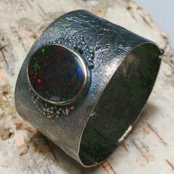 matrix,opal,australijski,ogromny,srebrna,kosmos - Bransoletki - Biżuteria