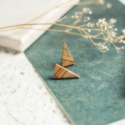 trójkątne kolczyki,minimalistyczne kolczyki - Kolczyki - Biżuteria