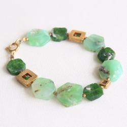 geometryczna,zielona,wesoła, - Bransoletki - Biżuteria