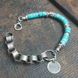 bransoletka na prezent,turkusowa bransoletka - Bransoletki - Biżuteria