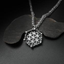 naszyjnik,biżuteria srebrna,kwiat życia,symbol - Naszyjniki - Biżuteria
