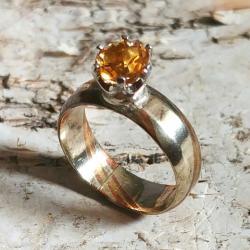 cytryn,blask,żółty,srebrny,srebro,mokume,złoty, - Pierścionki - Biżuteria