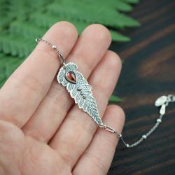 paproć,liść,naturalna,kobieca, - Bransoletki - Biżuteria