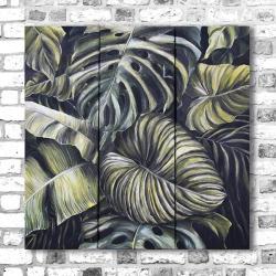 tryptyk,akryl,tropikalny las,obraz na płotnie - Obrazy - Wyposażenie wnętrz