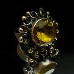 kwarc,blask,srebrny,minerał,przejrzysty,kryształ, - Pierścionki - Biżuteria
