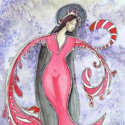 anioł,anioły,kobieta,malarstwo,ilustracja,wnętrze, - Ilustracje, rysunki, fotografia - Wyposażenie wnętrz