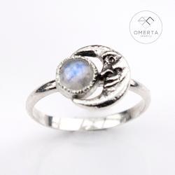 omerta,luna,księżyc,moonstone - Pierścionki - Biżuteria