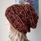 Inne czapka na drutach,rękodzieło,melanżowa czapka