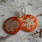 Kolczyki mokume,japonia,wzory,srebrne,miedź,słoje drzewa,