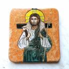 Ceramika i szkło Beata Kmieć,ikona ceramiczna,Jezus,Pasterz