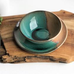 ceramika hand made,talerz,miseczka - Ceramika i szkło - Wyposażenie wnętrz