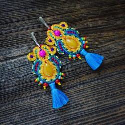 etniczne kolczyki,kolczyki z chwostami - Kolczyki - Biżuteria