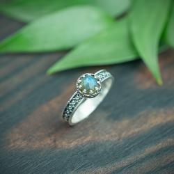 retro,zdobiona obrączka,elegancki - Pierścionki - Biżuteria
