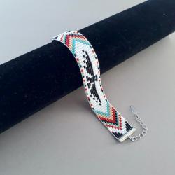 bransoletka tkana na krośnie,etno - Bransoletki - Biżuteria