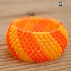 Szeroka bransoletka merlinka orange - Bransoletki - Biżuteria