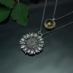 romantyczne,unikatowe,motywy kwiatowe - Naszyjniki - Biżuteria