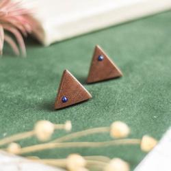 kolczyki drewniane,geometryczne kolczyki - Kolczyki - Biżuteria