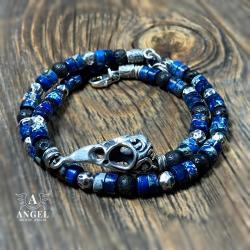 bransoleta z czaszką ptaka,surowa biżuteria - Dla mężczyzn - Biżuteria