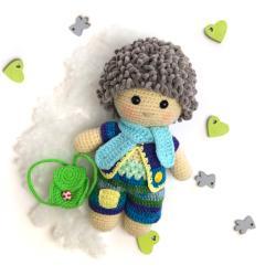 lalka,szydełko,włóczka,zabawka,prezent - Zabawki - Akcesoria