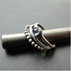 srebro,topaz,zestaw,trio - Pierścionki - Biżuteria