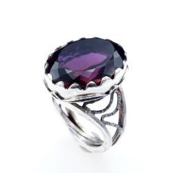 regulowany pierścionek z ametrynem - Pierścionki - Biżuteria