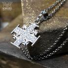 Naszyjniki krzyż pielgrzyma,jerozolimski,biżuteria męska